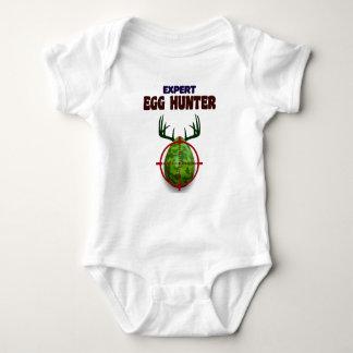 Body Para Bebê O caçador perito da páscoa, cervo do ovo visa o