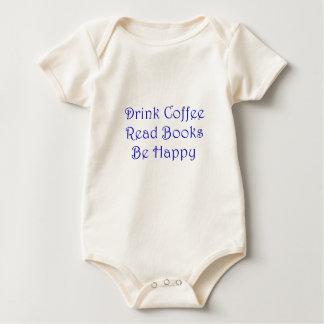 Body Para Bebê O café da bebida leu livros esteja feliz