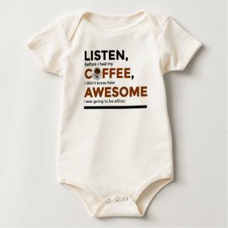 Body Para Bebê O café da bebida seja impressionante