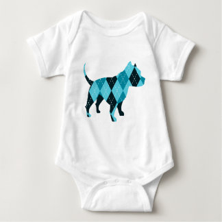 Body Para Bebê O cão de Argyle