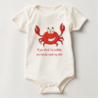 Body Para Bebê O caranguejo pequeno do pai
