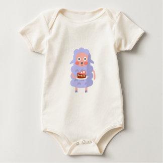Body Para Bebê O carneiro com partido atribui S Funky estilizado