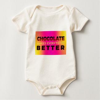 Body Para Bebê O chocolate faz tudo melhor