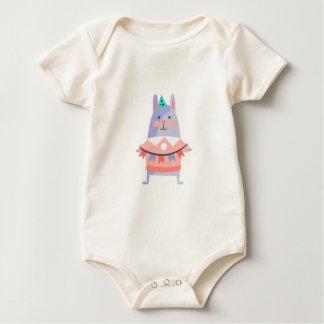 Body Para Bebê O coelho com partido atribui Funky estilizado