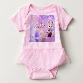 Body Para Bebê O coelho conhecido do felz pascoa Eggs o tutu do