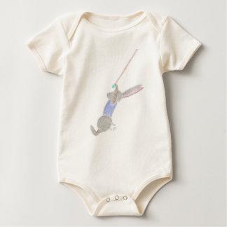 Body Para Bebê O coelho no trapézio do vôo