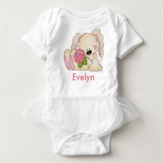 Body Para Bebê O coelho personalizado de Evelyn