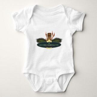 Body Para Bebê O conselho grande de Kahuna com palma & Tiki