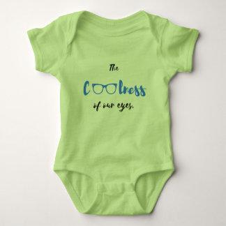 Body Para Bebê O Coolness de nossos olhos - Bodysuit do bebê