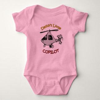 Body Para Bebê O copiloto pequeno do pai (helicóptero)
