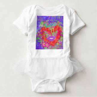 Body Para Bebê O coração igualmente fala do amor