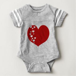 Body Para Bebê O coração segue claro vermelho