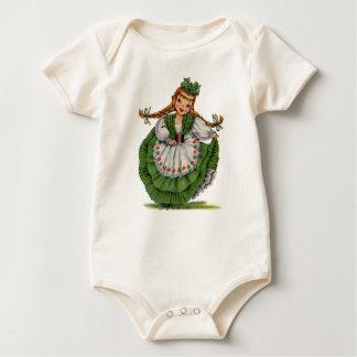 Body Para Bebê O dançarino irlandês retro da boneca com dobras
