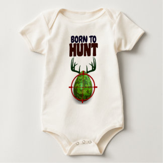 Body Para Bebê o design engraçado da páscoa, nascer para caçar