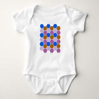 Body Para Bebê O design obstrui o azul
