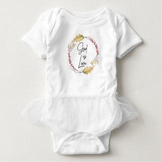 Body Para Bebê O deus é amor - espiritual e religioso