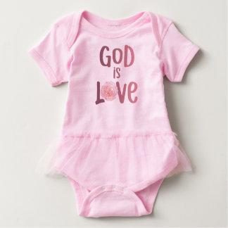 Body Para Bebê O deus é amor - espiritual e religioso - bebê
