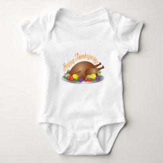 Body Para Bebê O dia da acção de graças cozeu a ilustração do