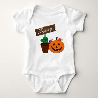 Body Para Bebê O Dia das Bruxas customizável - casa assombrada