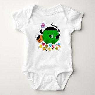 Body Para Bebê O Dia das Bruxas customizável - Frankenstein e
