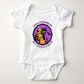 Body Para Bebê O Dia das Bruxas é meu Xmas
