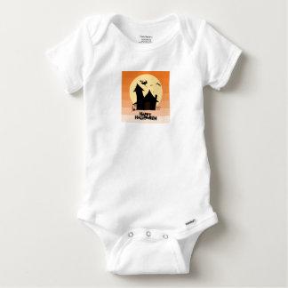 """Body Para Bebê """"O Dia das Bruxas feliz"""" Curto-Sleeved a veste de"""