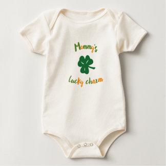 Body Para Bebê O dia de St Patrick orgânico do encanto afortunado