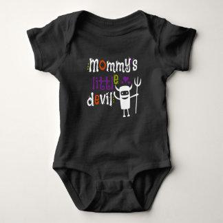 Body Para Bebê O diabo pequeno da mamã caçoa o Tshirt para o Dia
