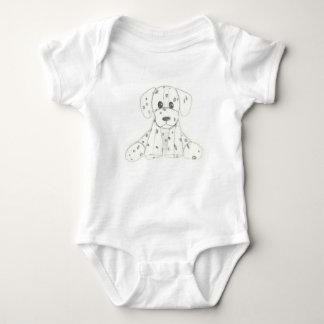 Body Para Bebê o doodle simples do cão caçoa o dalmatian branco