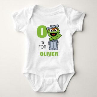 Body Para Bebê O é para Oscar que o Grouch | adiciona seu nome