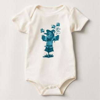 Body Para Bebê o espantalho dá desenhos animados da mensagem da