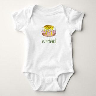 Body Para Bebê O estilo do comensal Eggs Benedict com Hollandaise