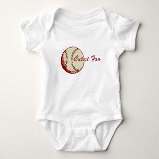 Body Para Bebê O fã o mais bonito do basebol