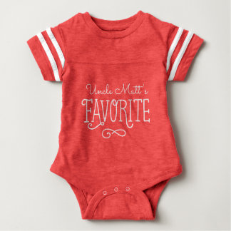 Body Para Bebê O Favorito Personalized Bebê T do tio