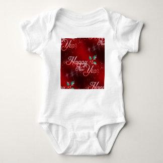 Body Para Bebê o feliz ano novo do azevinho