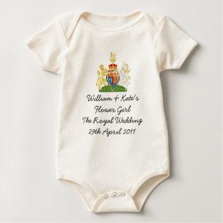 Body Para Bebê O florista real do casamento caçoa o equipamento