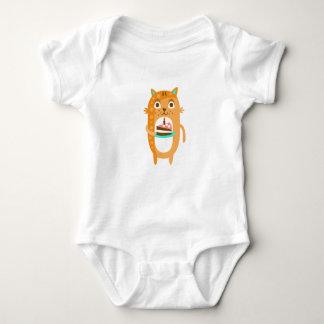 Body Para Bebê O gato com partido atribui a WTI Funky estilizado