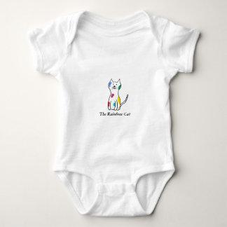 Body Para Bebê O gato do arco-íris