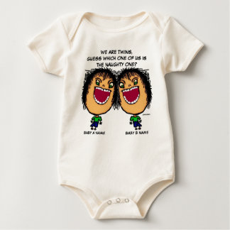 Body Para Bebê O gêmeo impertinente