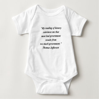 Body Para Bebê O governo mau - Thomas Jefferson
