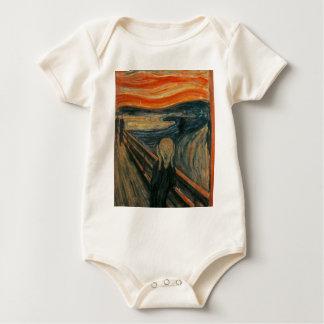 Body Para Bebê O gritar - Edvard Munch. Arte finala da pintura