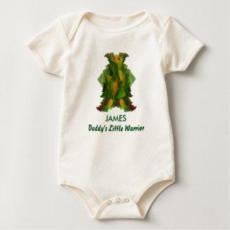 Body Para Bebê O guerreiro pequeno do pai com nome da criança