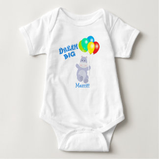 Body Para Bebê O hipopótamo grande ideal Balloons a aventura