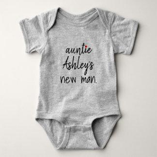 Body Para Bebê o homem novo do auntie personalizado