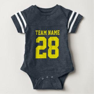 Body Para Bebê O jérsei amarelo azul do futebol do bebê ostenta o