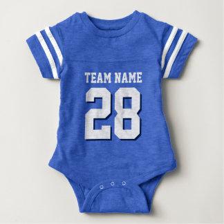 Body Para Bebê O jérsei branco azul do futebol ostenta o Romper