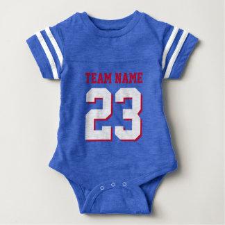 Body Para Bebê O jérsei do futebol do bebê do vermelho de azuis