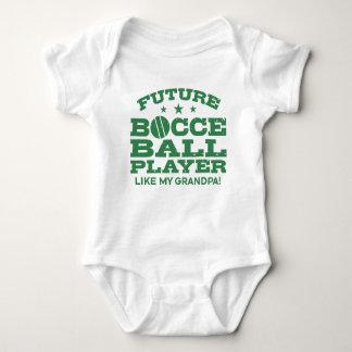 Body Para Bebê O jogador futuro da bola de Bocce gosta de meu
