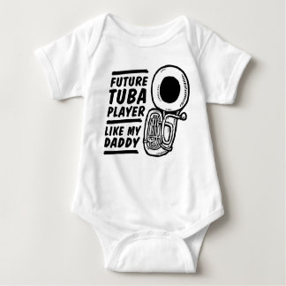 Body Para Bebê O jogador futuro da tuba gosta de meu pai