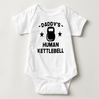 Body Para Bebê O Kettlebell humano do pai